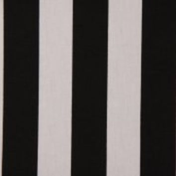 "Standard Sized Shower Curtain (71""W x 72""L) in Thick Black & White Stripes"