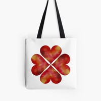 'Lucky heart Clover' Tote Bag by Manitarka