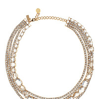 Kate Spade Draped Jewels Multi Strand Necklace Clear ONE