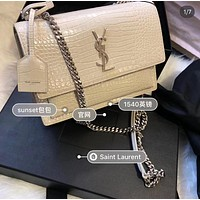 popular YSL Women Leather monnogam Handbag Crossbody bags Shouldbag Bumbag
