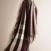 The Fringe Scarf in Check Cashmere