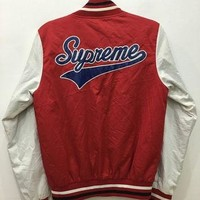 April Sale Vintage 90s Supreme Varsity Made In Canada Jacket Sweater Snap Button Bape