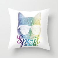 Spirit Animal Throw Pillow by LookHUMAN