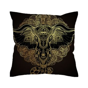 BeddingOutlet Tribal Elephant Cushion Cover Indian  Ganesha Pillowcase Sofa Ethnic Throw Cover Boho  Pillow Cover
