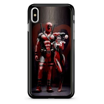 Harley Quinn And Deapool iPhone X Case