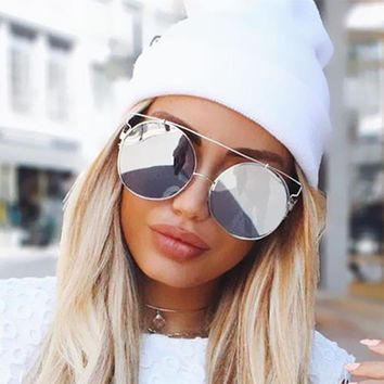 Oversized Rose Gold Big Large Size Cat Eye Brand Designer Women Sunglasses Mirror Fashion Vintage Sexy Lady Sun Glasses Pink