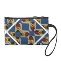 Blue And Yellow Duck Boy Coin Clutch Bag Coin Wallets