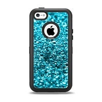 The Turquoise Glimmer Apple iPhone 5c Otterbox Defender Case Skin Set