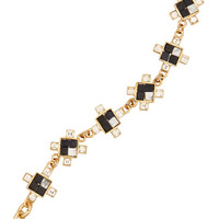 Lulu Frost - Terraced gold-plated, howlite and crystal bracelet