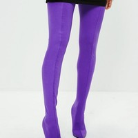 Missguided - Purple Stiletto Thigh High Boots