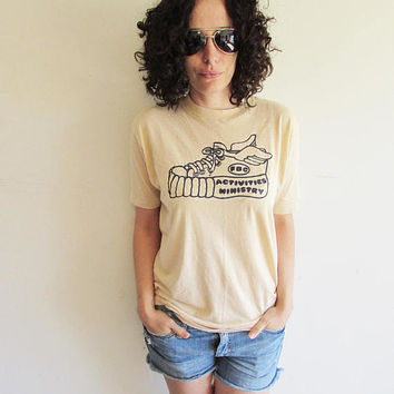 Vintage Thin and Soft FBC Activities Ministry/ Religious/ Sneaker with Wings Sports T Shirt