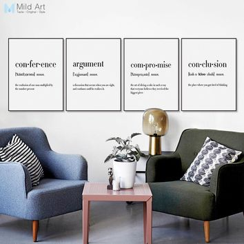 Minimalist Typography Life Quotes Humor Play Travel Posters Prints Nordic Style Room Wall Art Picture Home Decor Canvas Painting