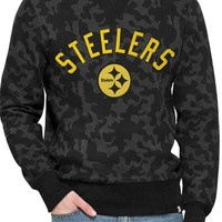 Men's 47 Brand 'Pittsburgh Steelers - Stealth' Camo Crewneck Sweatshirt,