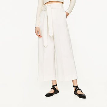 PALAZZO TROUSERS WITH BELT Look+: 1 of 1