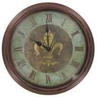Antique Copper Clock with Fleur-De-Lis Accent | Shop Hobby Lobby