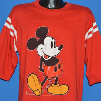 80s Mickey Mouse Striped Jersey t-shirt Large