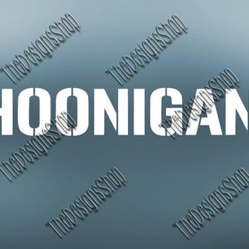 Hoonigan Car  SVG | Ken Block Focus Fiesta ST RS Mustang Cutting File | Hoonigan Shinnanigans | Silhouette Cameo Cutting Machines | 039