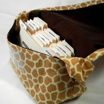 Mega Coupon Organizer Giraffe Animal Print