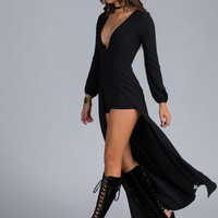Pure Glam High-Low Romper