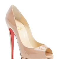 Women's Christian Louboutin Open Toe Pump,