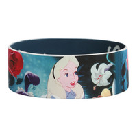 Disney Alice In Wonderland Curiouser And Curiouser Rubber Bracelet