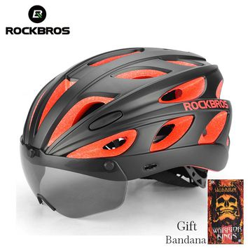 ROCKBROS Integrally-molded Ultralight Magnetic MTB Cycling Helmets With Sunglasses