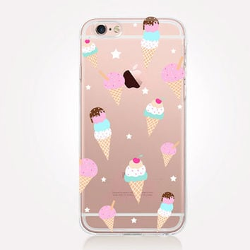 Transparent Icecream iPhone Case - Transparent Case - Clear Case - Transparent iPhone 6 - Transparent iPhone 5 - Transparent iPhone 4