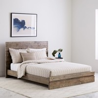 Emmerson® Modern Reclaimed Wood Bed - Stone Gray