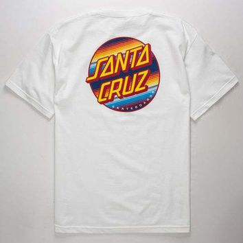 SANTA CRUZ Jorongo Dot White Mens T-Shirt