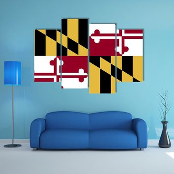 Maryland Flag Multi Panel Canvas Wall Art