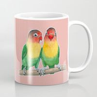 Fischer's lovebirds Mug by Savousepate