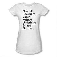 Harry Potter Professors Names Juniors White T-Shirt | HarryPotterShop.com