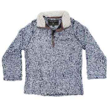CHILD'S Frosty Tip 1/4 Zip Pullover in Vintage Blue by True Grit - FINAL SALE