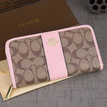 DCCKJ3V Coach Women Leather Zipper Wallet Purse-5