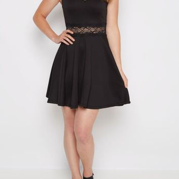 Strappy Lace Illusion Skater Dress | Skater Dresses | rue21