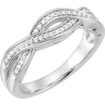 14K White 1-6 CTW Diamond Infinity-Inspired Anniversary Band