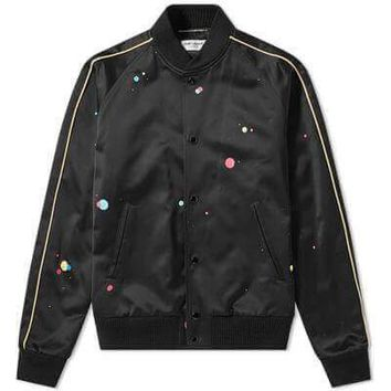 Vintage Sci-Fi Bomber Jacket by Saint Laurent