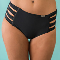 Take Me To the Tropics High Waisted Bottoms (Black)