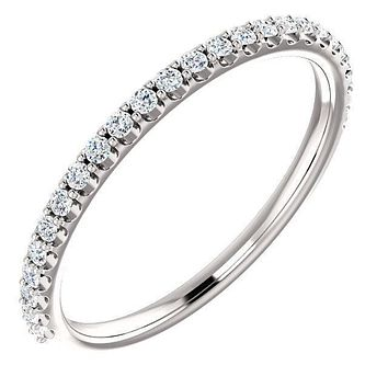 Juliette Round Moissanite or Diamond 1/2 Eternity Prong Ice Solitaire Band