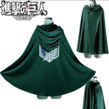 Cool Attack on Titan Japanese Hoodie  Cloak no  Scouting Legion Cosplay Costume anime cosplay green Cape mens clothes AT_90_11