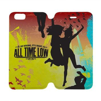 ALL TIME LOW Wallet Case for iPhone 4/4S 5/5S/SE 5C 6/6S Plus Samsung Galaxy S4 S5 S6 Edge Note 3 4 5