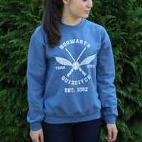 Harry Potter Hogwarts Quidditch Team Captain Sweatshirt Blue