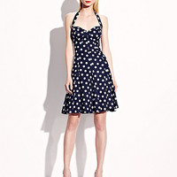 BetseyJohnson.com - SWEETHEART POLKA DOT DRESS NAVY