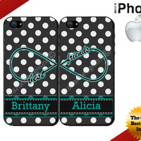 Best Friends iPhone 5C Case - iPhone 4 Case or iPhone 5 Case - Infinity - Polka Dot iPhone 5S Case - Two Case Set
