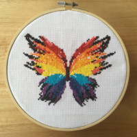 Cross Stitch Pattern Download - Modern Butterfly Cross Stitch Pattern