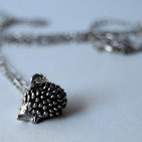 ADORABLE Teeny Tiny Forest Hedgehog Necklace by EnchantedLeaves