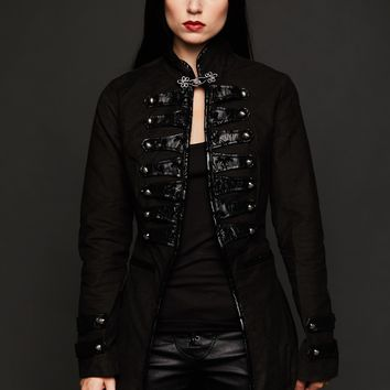 Dark Glamour Black Victorian Steampunk Coat