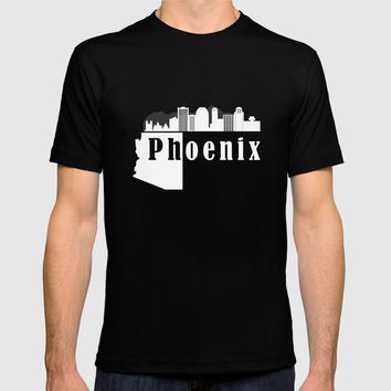 Phoenix city skyline T-shirt by DimDom