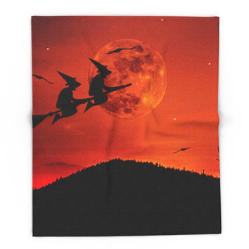 Society6 Two Witches, One Broom Blanket