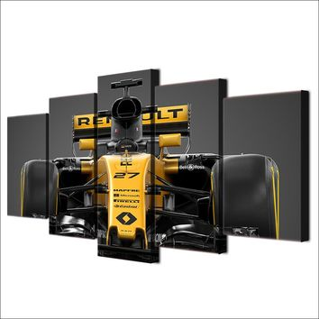 Indy F1 Formula Race Car Wall Art Canvas Print Poster 5 Panel